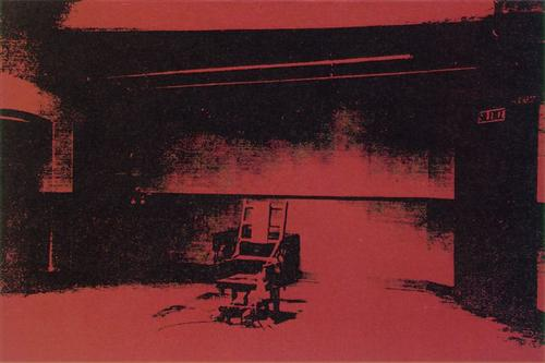 Early electric chair - Andy Warhol