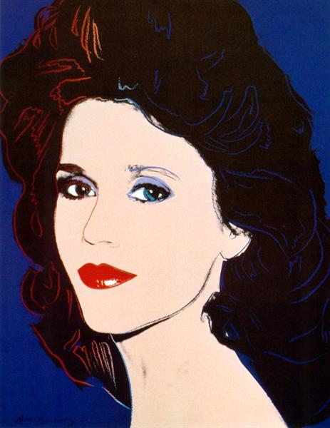 Jane Fonda, 1982 - Andy Warhol