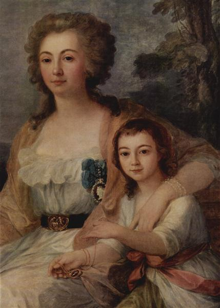 Countess Anna Protassowa with niece, 1788 - Angelica Kauffmann