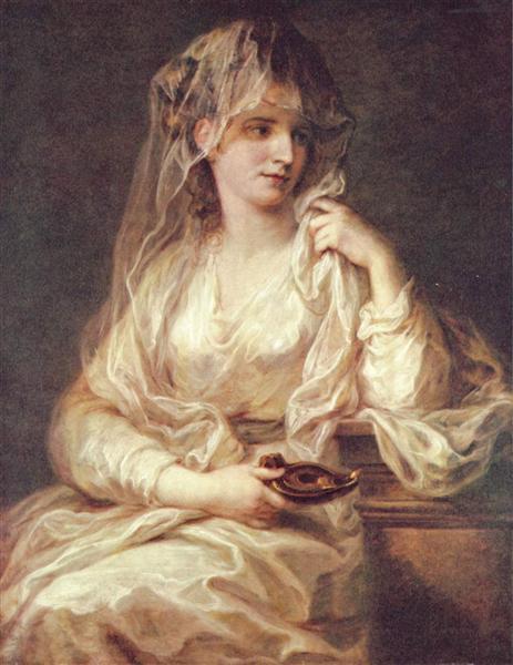 Portrait of a Woman as a Vestal Virgin, c.1787 - Ангеліка Кауфман