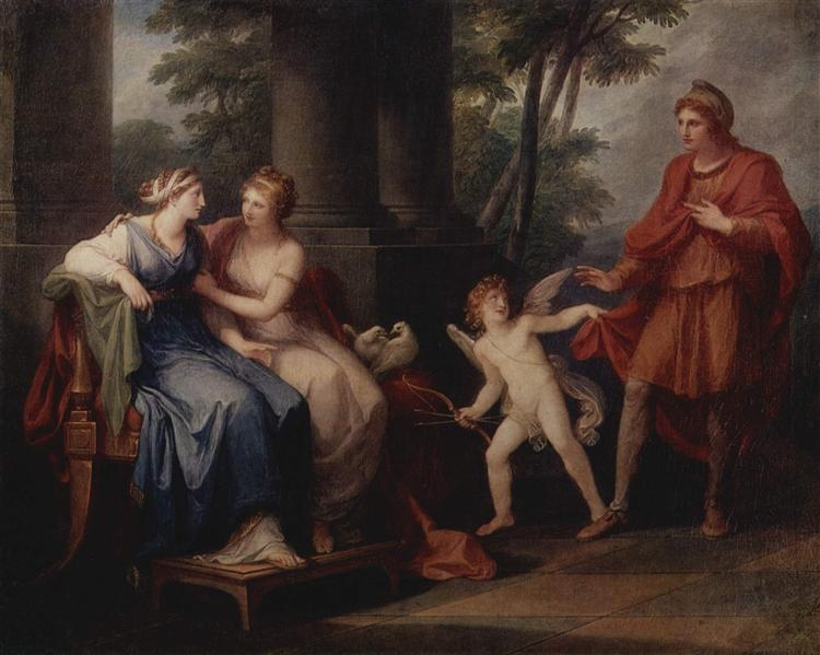 Venus convinces Helen to hear Paris, 1790 - Angelica Kauffman
