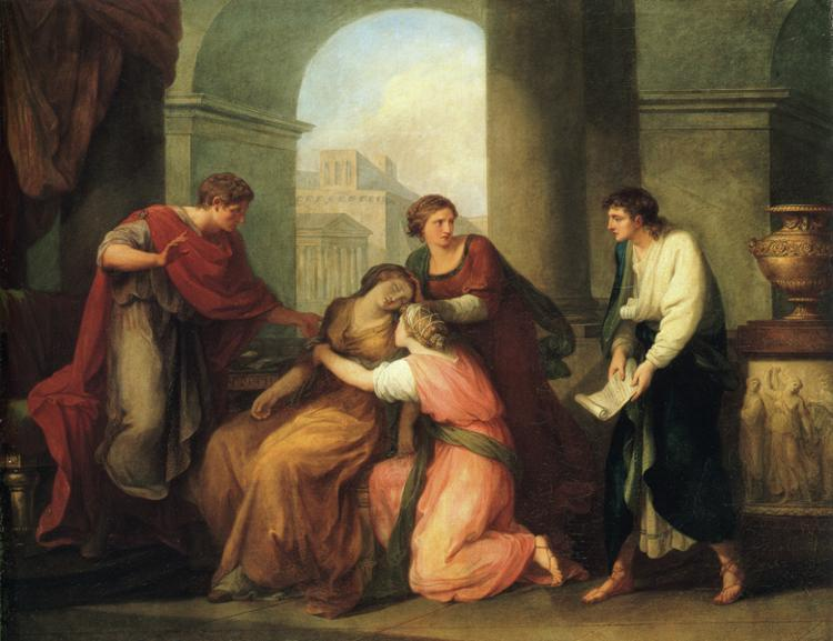 Virgil Reading the Aeneid to Augustus and Octavia - Angelica Kauffman
