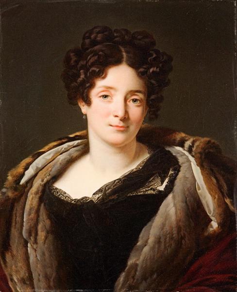 Portrait d'Odette Désirée Thérèse Godefroy de Suresnes - Anne-Louis Girodet de Roussy-Trioson