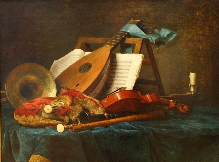 The Attributes of Music, 1770 - Anne Vallayer-Coster