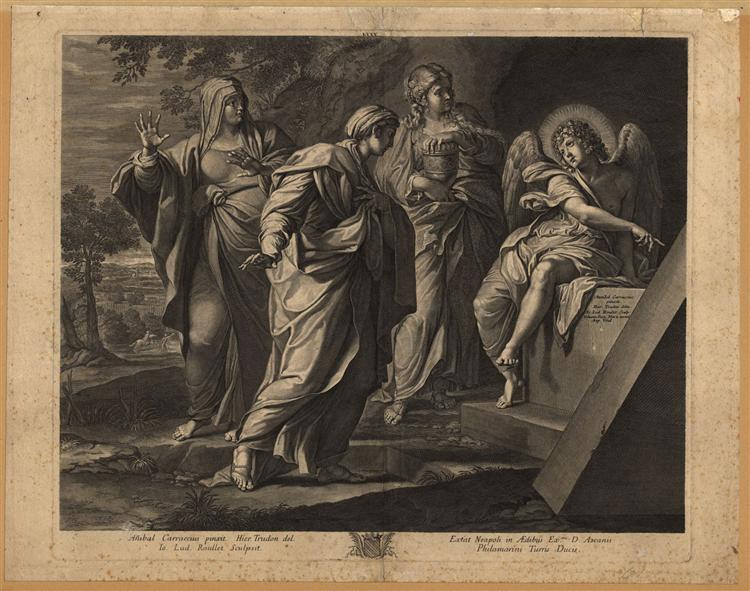 Angel announcing the resurrection of Christ to the three Marys, 1580 - 1609 - Annibale Carracci