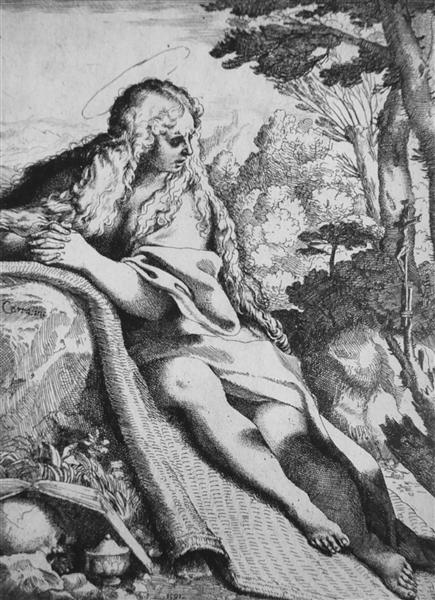 St. Magdalene in the Desert, 1591 - Annibale Carracci