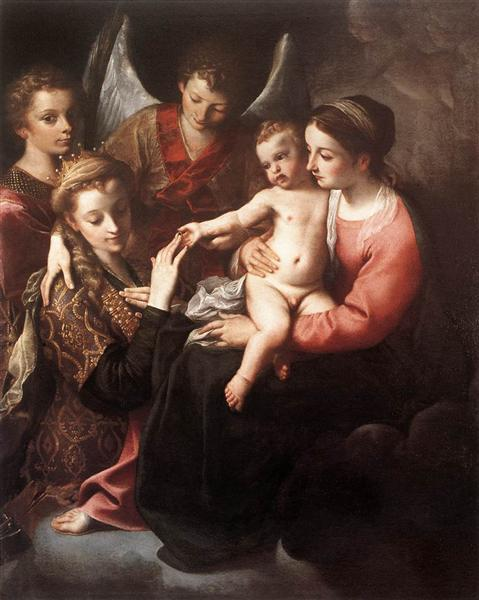 The Mystic Marriage of St Catherine, 1585 - 1587 - Annibale Carracci