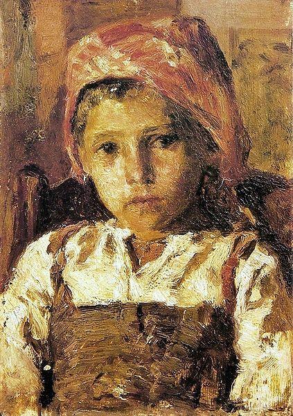 Head of a Girl - António da Silva Porto