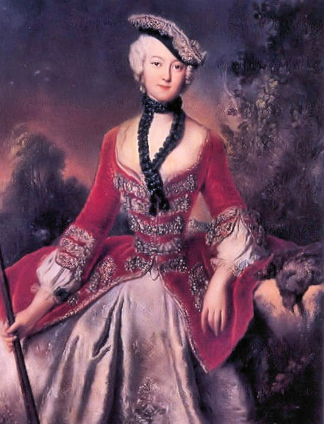 Portrait of Sophie Marie Gräfin Voss, c.1746 - Antoine Pesne