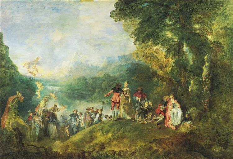 The Embarkation for Cythera - Antoine Watteau