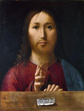 Christ Blessing - Antonello da Messina