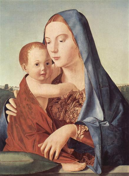 Madonna and Child (Madonna Benson), 1465 - 1470 - Antonello da Messina