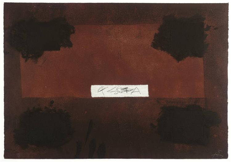 Pasted Cloth, 1976 - Antoni Tapies