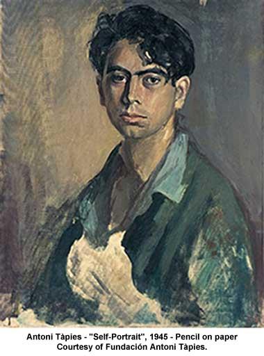 Self-Portrait, 1945 - Antoni Tapies