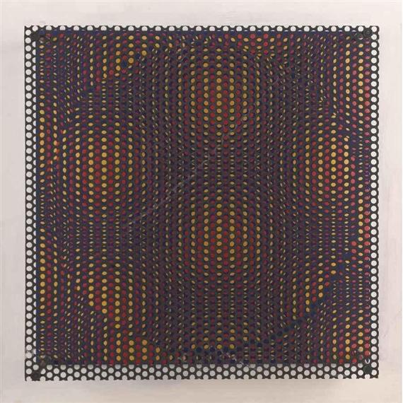 Círculo rojo y amarillo, 1970 - Антоніо Азіс