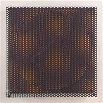 Círculo rojo y amarillo - Antonio Asis