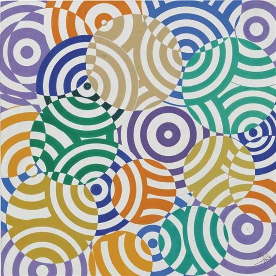 Interférences polychromes (No. 636), 1968 - Antonio Asis