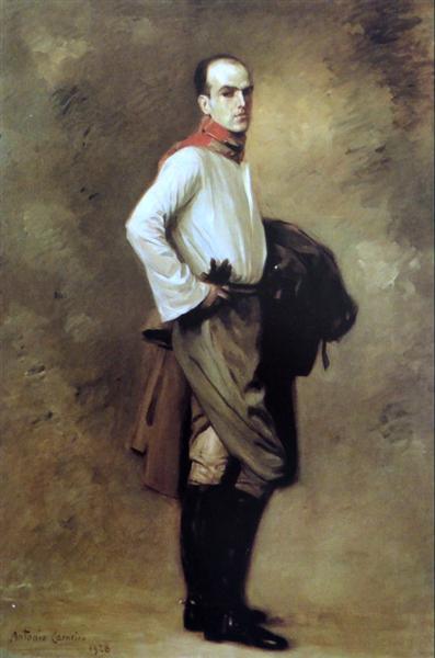 Retrato de Carlos Carneiro, Cavaleiro, 1928 - António Carneiro