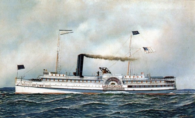 The Paddle Steamer Larchmont, 1903 - Антонио Якобсен