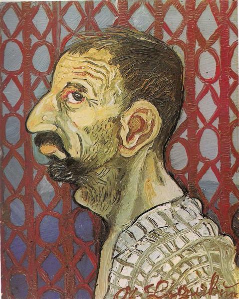 Self-Portrait in profile, 1942 - Antonio Ligabue