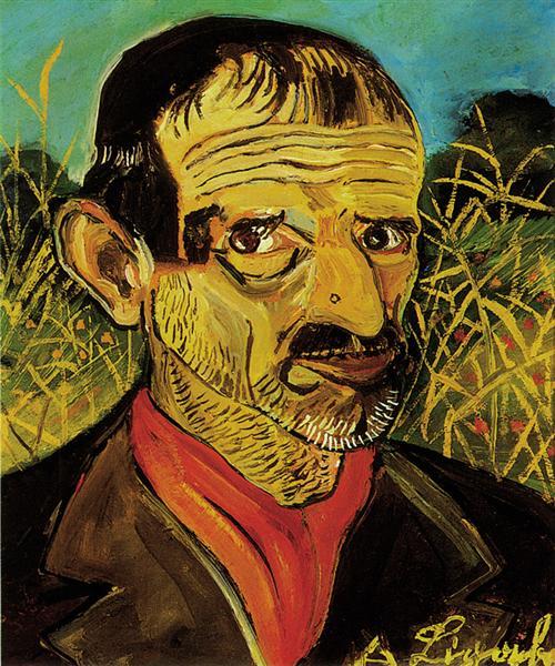 Self-Portrait with red scarf, 1956 - Antonio Ligabue