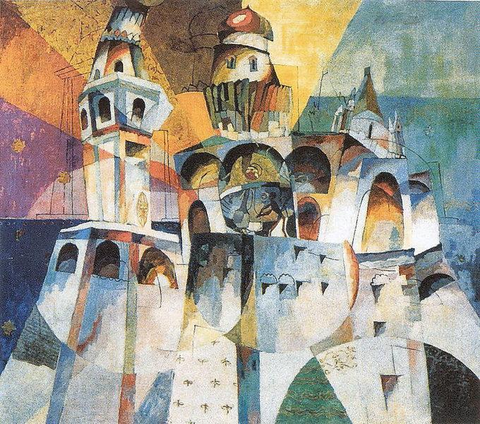 Bells. Ivan the Great Bell, 1915 - Aristarkh Lentulov