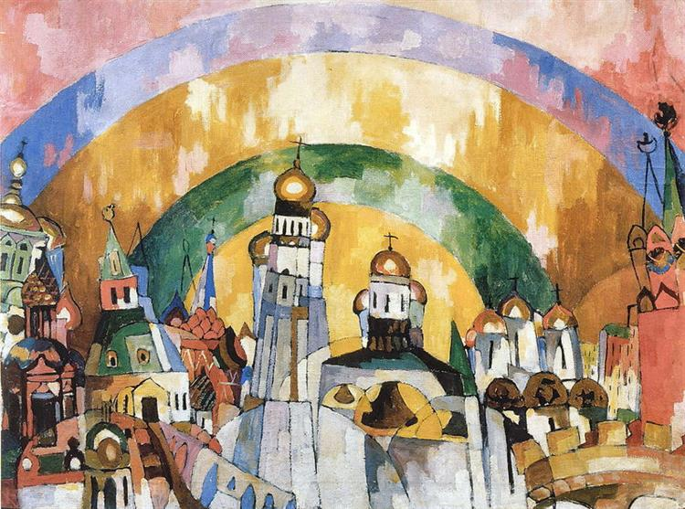 Небосвод - Декоративная Москва, 1919 - Аристарх Лентулов