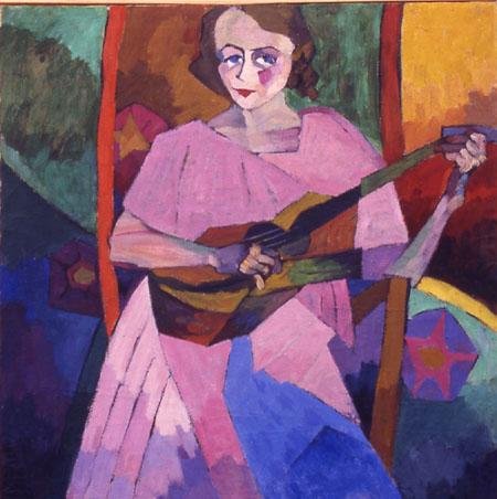 Woman with Guitar, 1913 - Aristarkh Lentulov