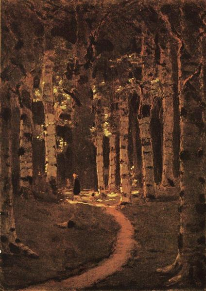 A Birch Grove, c.1880 - Arkhip Kuindzhi
