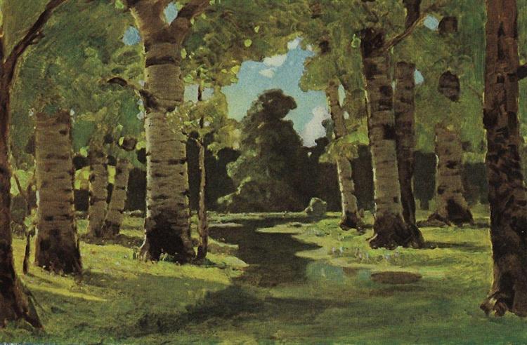 A Birch Grove, c.1908 - Arkhip Kuindzhi