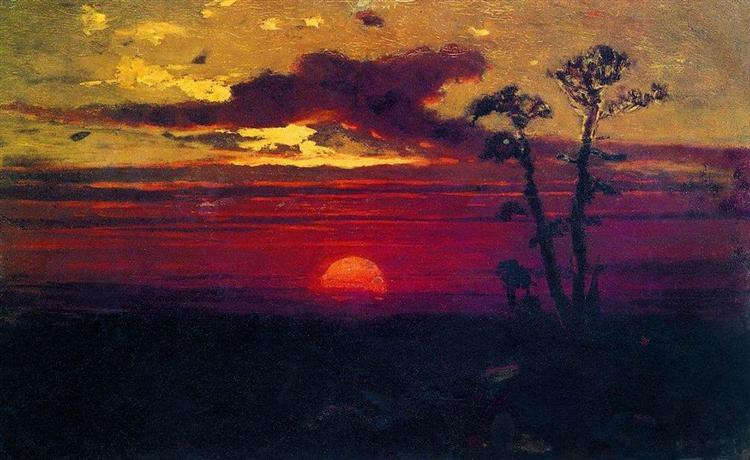 Sunset - Arkhip Kuindzhi
