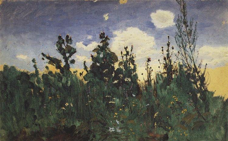 Wild grass, 1875 - Arkhip Kuindzhi