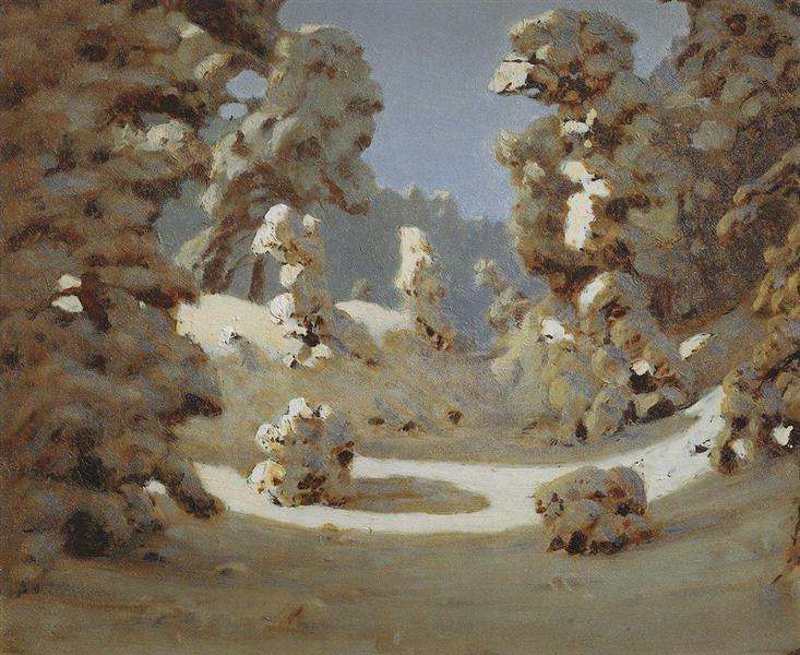 Winter. Sunlight on The Hoar Frost, c.1890 - Arkhip Kuindzhi