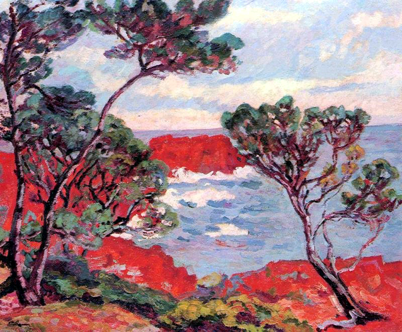 Les Rochers Rouges 1894 Armand Guillaumin Wikiart Org