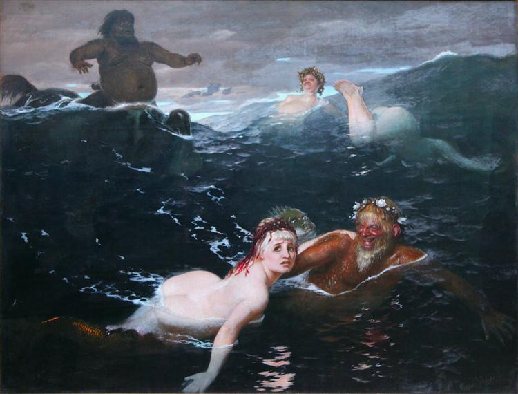 Playing in the Waves - Böcklin Arnold