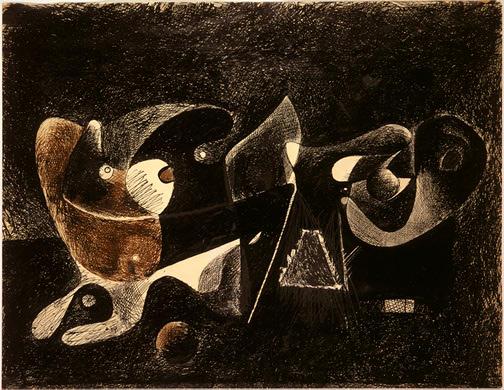 Night-time, Enigma, and Nostalgia, 1932 - 1934 - Arshile Gorky