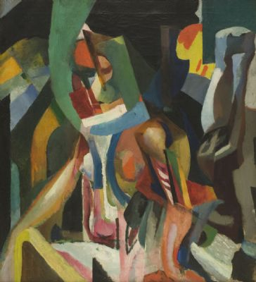 Composition (Seated Nude), 1935 - Артур Бичем Карлес