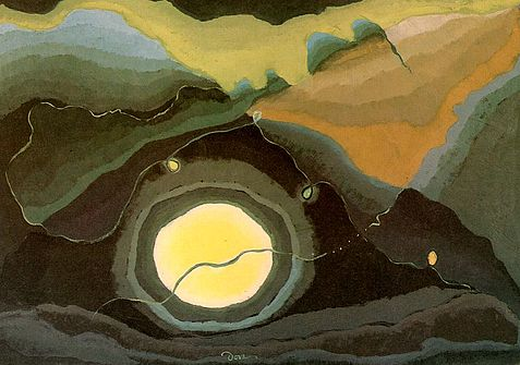 Me and the Moon, 1937 - Arthur Dove