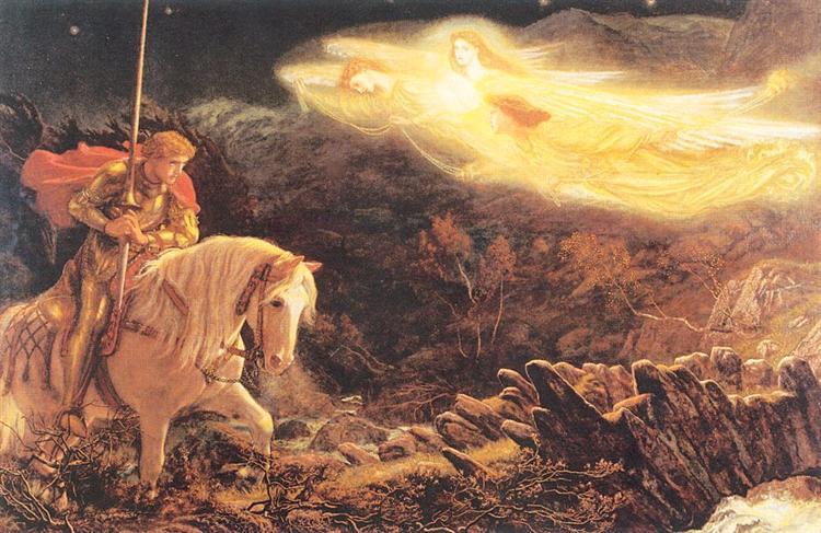 Sir Galahad - the Quest of the Holy Grail, 1870 - Arthur Hughes