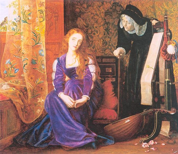 The Pained Heart', or 'Sigh No More, Ladies', 1868 - Arthur Hughes