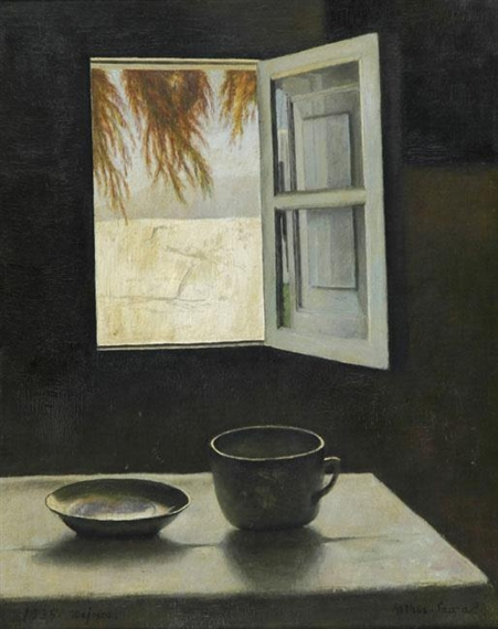 Still Life and a Window, 1935 - Arthur Segal