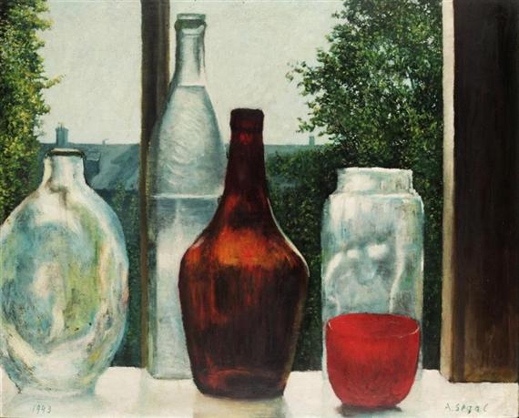 Still Life with Bottles, 1943 - Arthur Segal