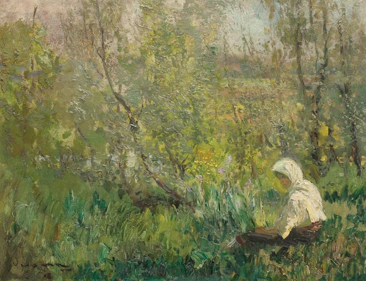 Peasant Woman Resting, 1915 - Arthur Verona