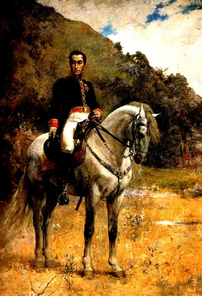 Retrato ecuestre de Bolivar, 1888 - Артуро Міхелена