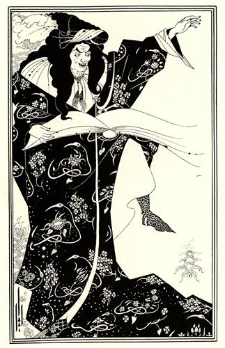 Design for a Frontispiece to 'Virgilius the Sorcerer' - Aubrey Beardsley