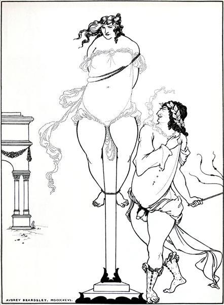 Juvenal Scourging Woman, 1896 - Aubrey Beardsley
