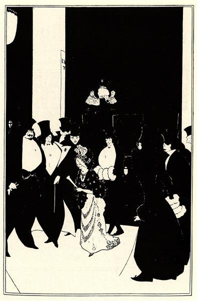 Lady Gold's Escort, 1894 - Aubrey Beardsley