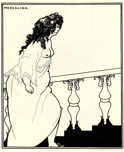 Messalina Returning from the Bath - Aubrey Beardsley