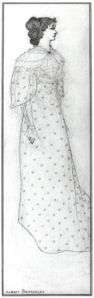 Mrs Winifred Emery, 1894 - Обри Бёрдслей