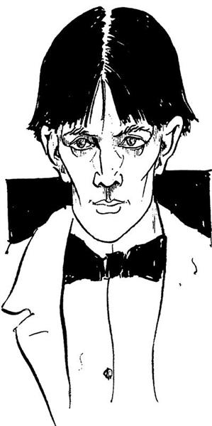 Self-portait, 1892 - Aubrey Beardsley